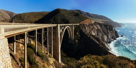 bixby: Bixby Creek Bridge, Pacific highway, California, USA.