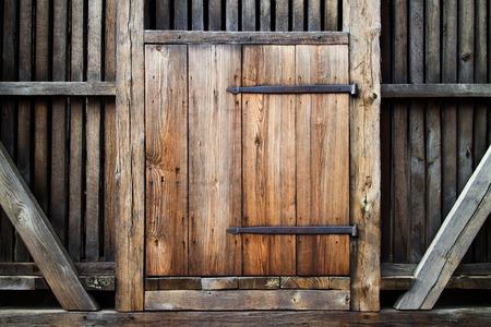 Rustic antique wooden door.