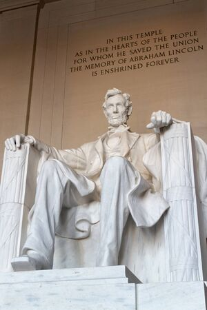 abraham: The statue of Abraham Lincoln, Lincoln Memorial, Washington DC.