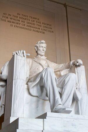lincoln: The statue of Abraham Lincoln, Lincoln Memorial, Washington DC.