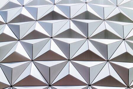 Futuristic geometric architecture facade. Imagens - 42629297