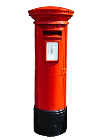 red post box: Red post box isolated on white.
