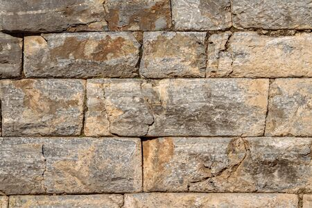 stone wall texture: Rustic stone wall texture.