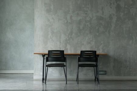 minimal: A minimal office in concrete finishing room.