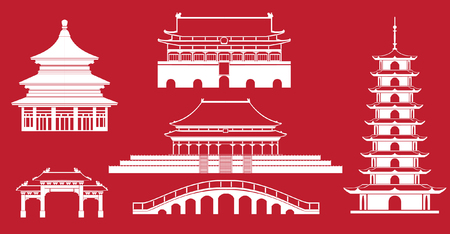 simplicity: Simplicity Chinese architecture graphic drawings.