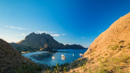 Bay of Padar island, Kodomo Nation Park, Indonesia. Stock Photo