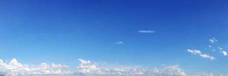 Blue sky with clouds on a sunny day. Beautiful cumulus cloud. Stok Fotoğraf
