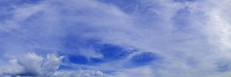 Panorama sky with cloud on a sunny day. Panoramic image. Imagens - 127896388