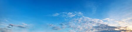 Panorama sky with cloud on a sunny day. Beautiful cloud. 写真素材
