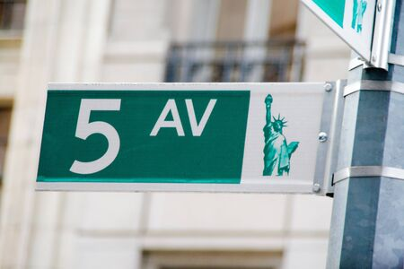 avenues: 5ht avenue sign