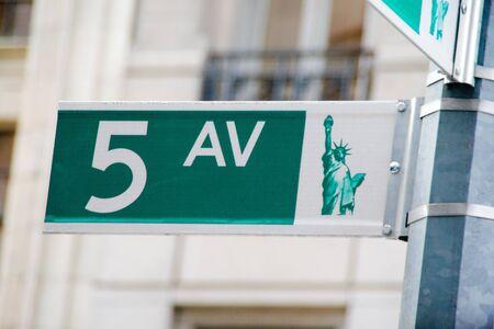 5ht avenue sign
