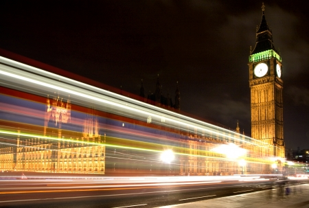 Big ben and Westminster Bridge at Night  London