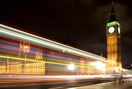 Big ben and Westminster Bridge at Night  London
