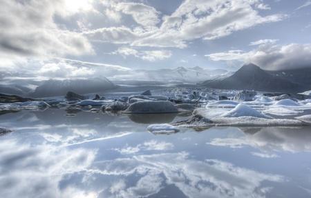 fjallsarlon: Iceberg in Fjallsarlon glacier lake in Iceland. Stock Photo