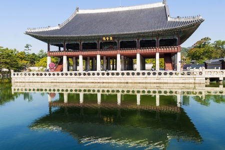 building  in Gyeongbokgung palace  Seoul, South Korea