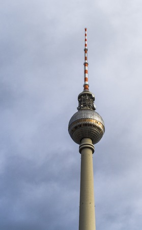 tv tower: Berlins TV tower (Fernsehturm) in Germany