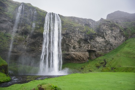 Seljalandsfoss is one of the most famous waterfalls of Iceland
