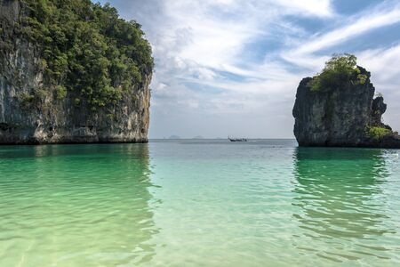 turistic: Andaman Sea beach on PhiPhi island Turistic paraise in Thailand Stock Photo
