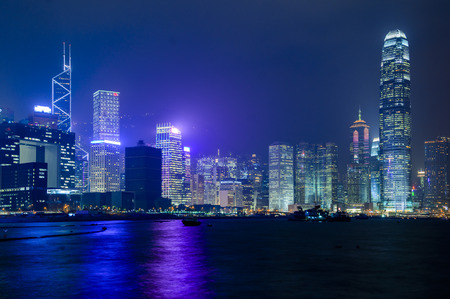 hong kong island: Hong Kong Island from Kowloon Editorial