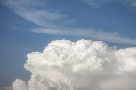puffy: Puffy anfd white clouds with blue sky