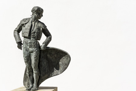 matador: Statue of famous Matador Ordonez in Ronda, Andalusia, Spain.