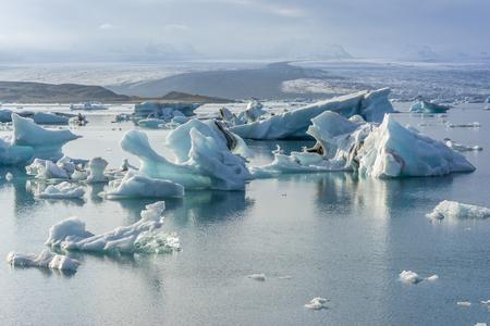jokulsarlon: Iceberg in Jokulsarlon glacier lake in Iceland. The icebergs originated from the Vatnajokull float. This location was used for various action movies.