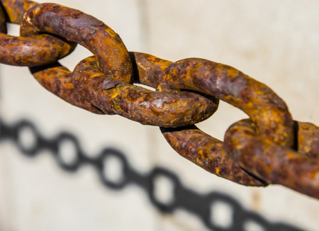rusty chain: old rusted chain connections