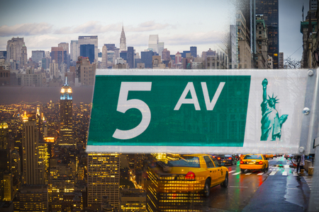big apple: New york city the big apple, busy day and night. USA Stock Photo