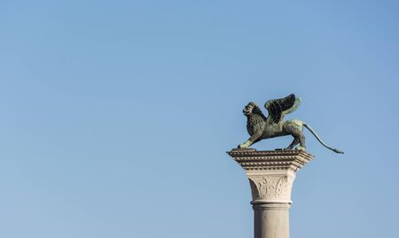 leon alado: The Winged Lion of Venice, the symbol of San Marco that stands on a high column on the Piazza di San Marco.