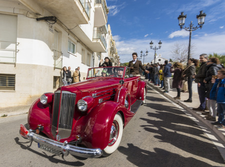 Sitges, Spain - March 5 2017: 59th Vintage Car Rally Barcelona-Sitges Editorial
