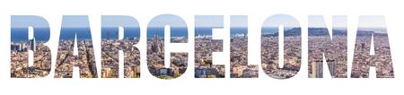 Barcelona Skyline lettetrs