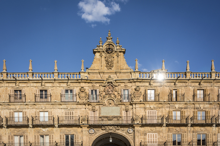 salamanca: Plaza Mayor of Salamanca in Spain. One of the most beautiful Squares of Europe.