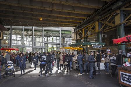 London, UK, October 10, 2016: Crowded Borough Market.