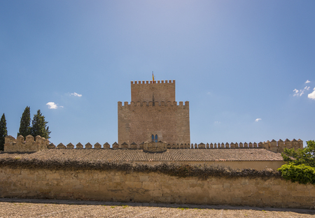 Castle of Henry II of Castile, 14th Century, in Ciudad Rodrigo, a small cathedral city in the province of Salamanca, Spain. Stock Photo