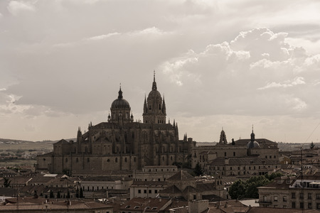 castilla: New Cathedral , one of the two cathedrals of Salamanca, Spain. Stock Photo