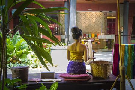 Weaver asian woman in Bangkok, Thailand