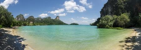 Panoramic view of Railay Beach, Thailand