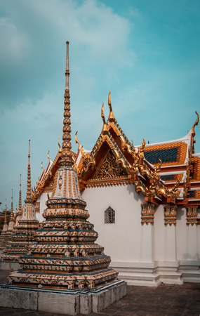 Wat Pho or Wat Phra Chetuphon temple in Bangkok, Thailand Stock Photo