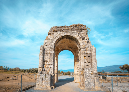 Arch of Caparra, ancient roman city of Caparra in Extremadura, Spain