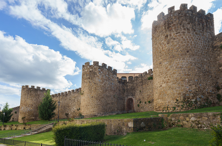 Medieval walls of Plasencia in the province of Caceres, Spain Stock Photo
