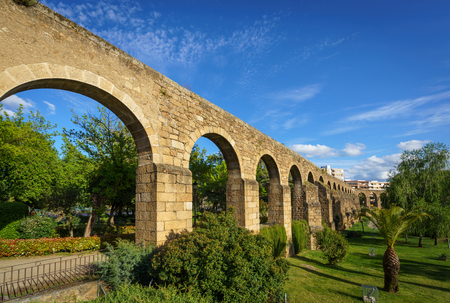 Aqueduct of San Anton in Plasencia, province of Caceres, Spain