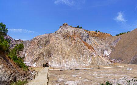 Cardona salt mine and mountain in Catalonia, Spain. Zdjęcie Seryjne