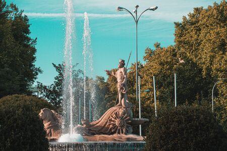 Fountain of Neptune in Madrid, Spain