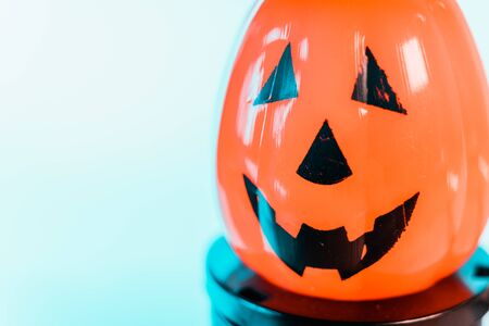 Halloween Pumpkins isolated in a white background