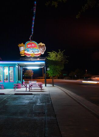 Kingman, Arizona. May 2010: Mr. Dz Route 66 Diner in Kingman located on historic Route 66.