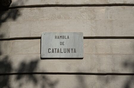 The famous Barcelona landmark - La Rambla Avenue Banco de Imagens