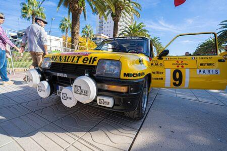 Salou, Spain. October 2019: Historic cars in the Rally costa daurada Editorial