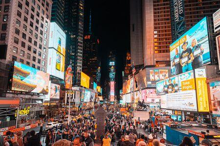 Nocny widok na Times Square w Nowym Jorku?