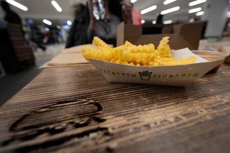 Crispy french Fries at Shake Shack in JFK Airport