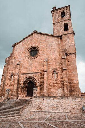 Romanesque church of San Pedro de Almocovar in Alcantara, Spain Stock Photo
